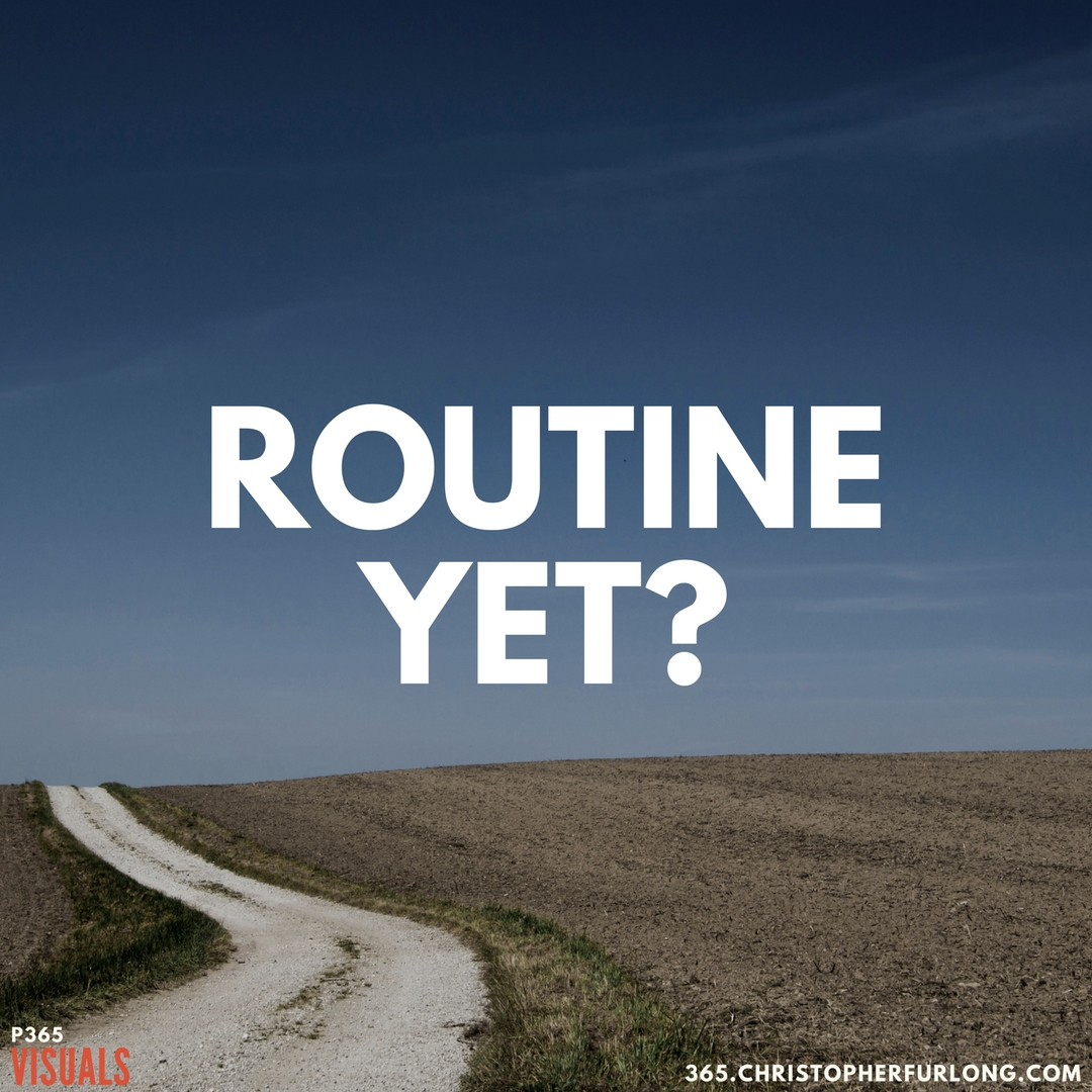 P365 2018: Day #020: Routine Yet?