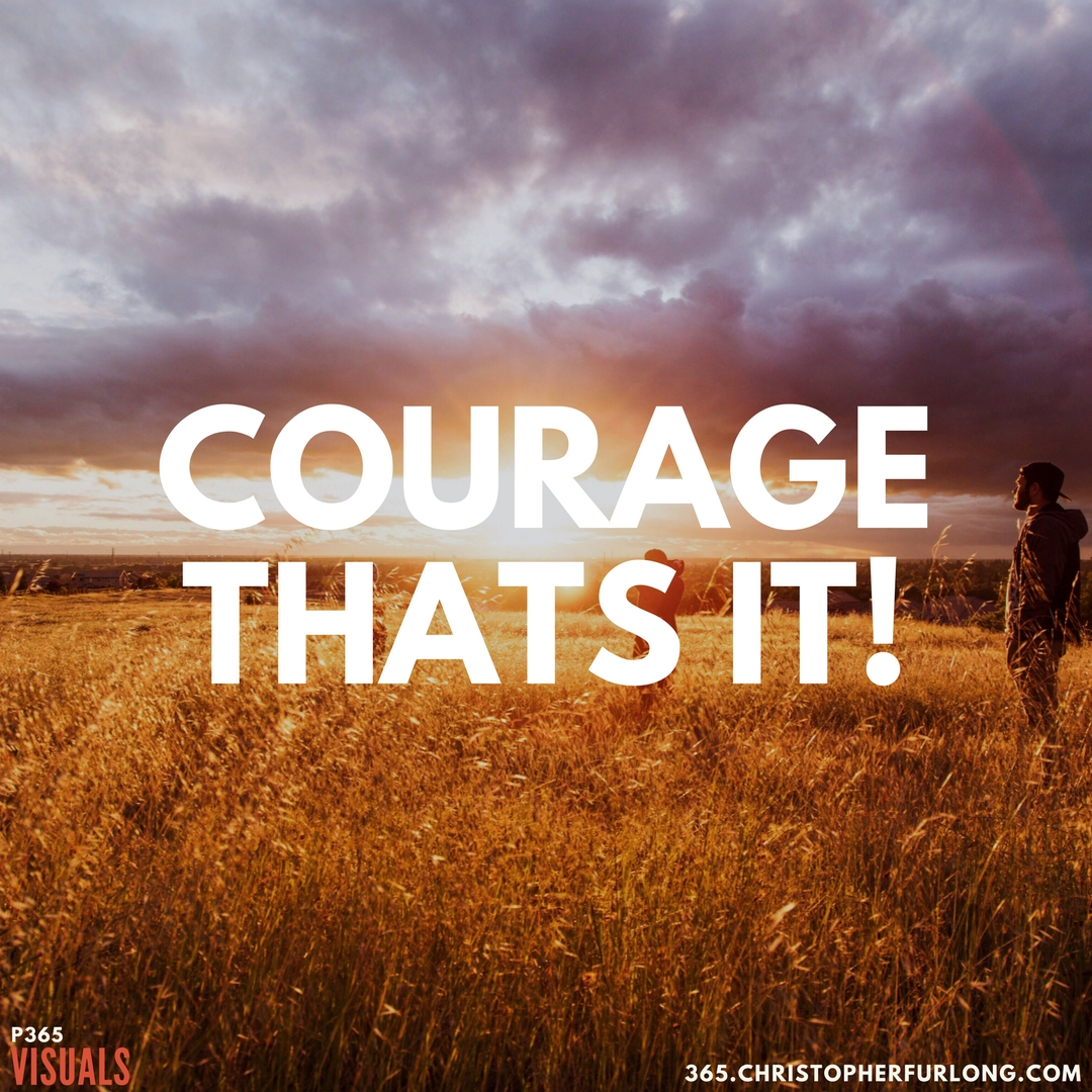 P365 2018: Day #024: Courage. Thats It!