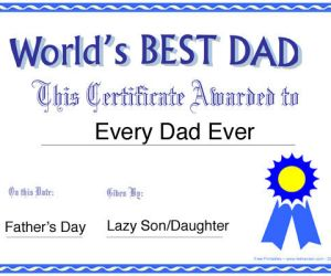 """81.  Say Thanks to the """"World's Best Dad"""""""