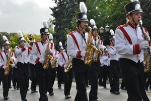 Marching in the Barrington Homecoming Parade