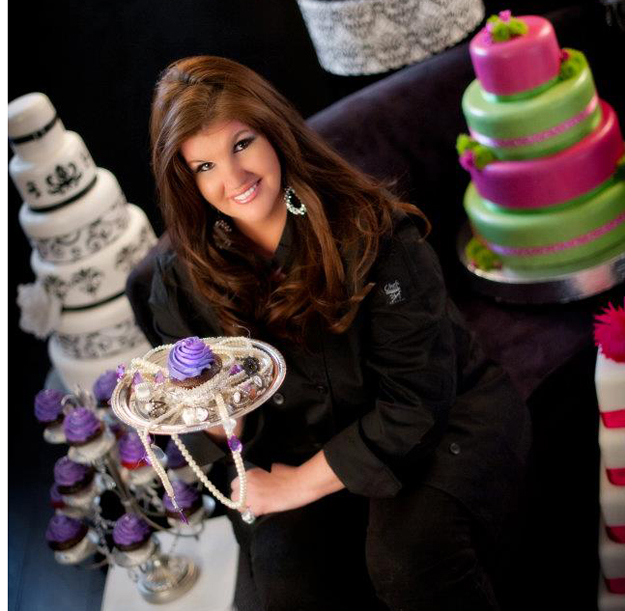 Couture Cupcake Owner, Cathi Volante, with her Creations