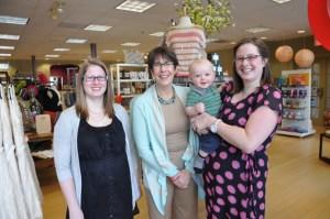 Hannah Barnes, Mari Barnes, Becky Jackson and Baby Mason