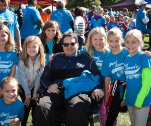 """Paul Launer's """"Iron Horse Brigade"""" in the 2013 ALS Walk for Life - Photo by Bob Lee"""