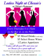 Ladies Night at Chessie's Restaurant @ Chessie's Restaurant
