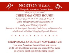 Christmas Open House at Norton's U.S.A. @ Norton's U.S.A.
