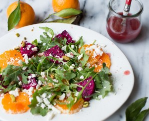 4PM Panic - Satsuma Orange and Dragonfruit Salad - Featured Image