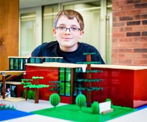 Local Boy Creates LEGO Replica of the Barrington Area Library