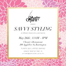 Savvy Styling Luncheon @ Savvy Styling Luncheon Thursday, May 26 11am to 1pm at Chessie's Restaurant |  |  |