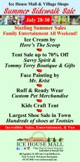 Summer Sidewalk Sale Days at the Ice House Mall @ Ice House Mall & Village Shops |  |  |