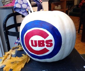 NoonDaily | Custom Painted Cubs Pumpkins & Crafting with Kids at Scarecrow Fest