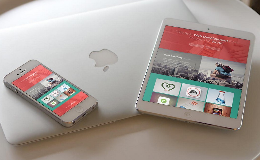 Responsive Devices iPad & iPhone Free PSD Mock-ups