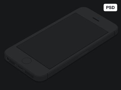 Iphone 5s Flat Dark