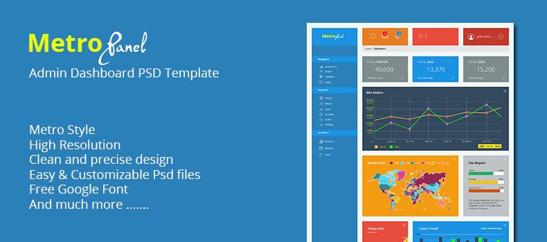 MetroPanel – Admin Dashboard PSD Template