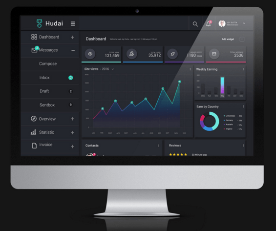 Freebie Admin Dashboard ( PSD )
