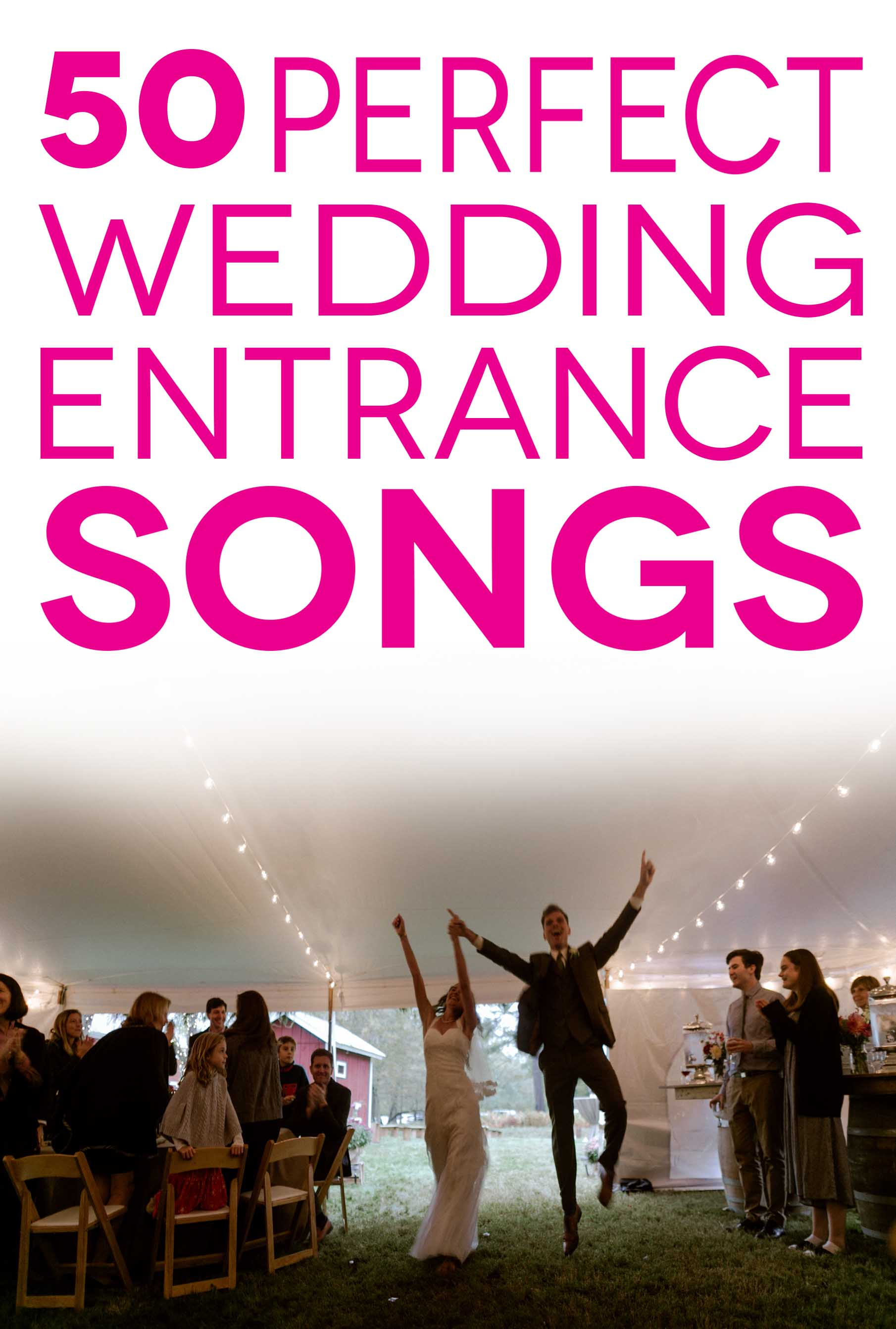 Innovative Wedding Entrance Pink Lettering Overlaying A Photo Ofa Couple Wedding Entrance Songs To Get Party Started A Practical Wedding Bridal Party Entrance Songs 2015 Bridal Party Entrance Songs Ch art Bridal Party Entrance Songs