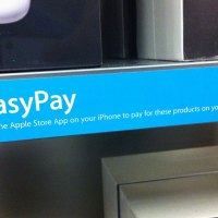 Having fun with EasyPay at Apple Store.