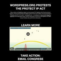 Google, Wikipedia and WordPress protest pages.
