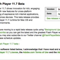 Flash Player 11.7 Beta April 2, 2013.
