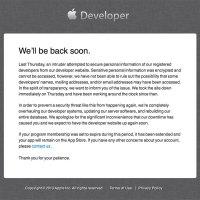 Hacking Attempt at Apple Developer Website