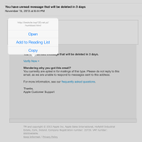 Scam Alert: Fake Email from iMessage Team