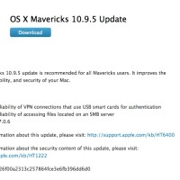 OS X Mavericks 10.9.5 is Released