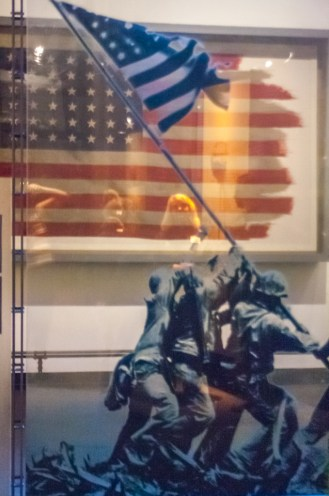 The actual flag flown on Mt. Sarabaci on Iwo Jima