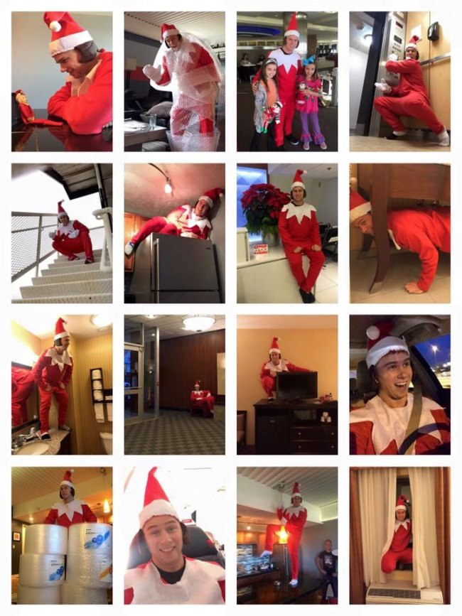 Life size Elf on a Shelf played by Andrew Dean