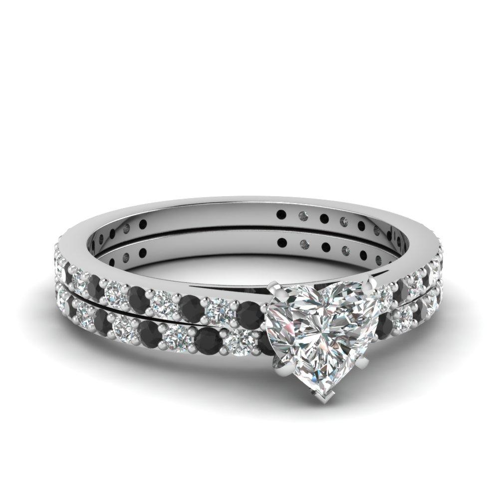 weddingringset black wedding ring sets Ellyn s Black CZ Wedding Ring Set