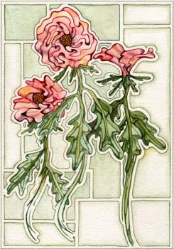 """3 Flowers #2 7"""" x 10"""""""