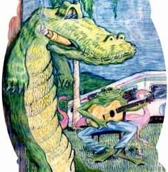 "Alligator 7"" x 9.5"""