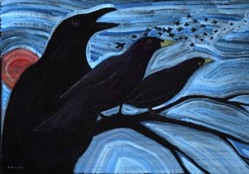 "Blackbirds 10"" x 7"""