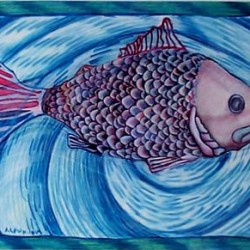 """Fish 12"""" x 10"""""""
