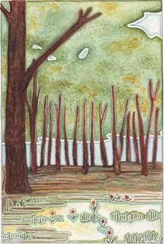 """Forest 8"""" x 12"""""""