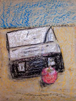 "Lunch Box and Apple 6"" x 8"""