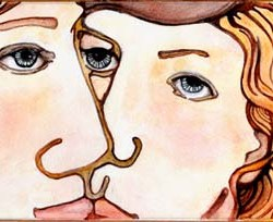 "Two faces #4 14"" x 8.25"""