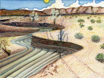 """Streams in the Desert 12"""" x 9"""""""