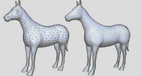 Artmesh-horse-quad