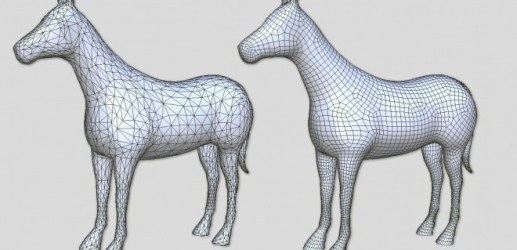Artmesh-horse-quad