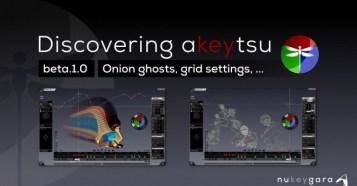 akeytsu Beta 1.0 - ゴースト表示機能を紹介!新3Dキャラクターアニメーションソフトウェア最新ベータ版!