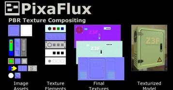 PBR Texture Compositing in PixaFlux - 使い方がわからない人必見!?ノードベースのテクスチャ作成ソフト「PixaFlux 」テクスチャフロー動画!