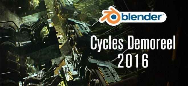 Cycles Demoreel 2016 - 無料3DCGソフト「Blender」搭載の物理ベースレンダラー「Cycles」デモリール2016!