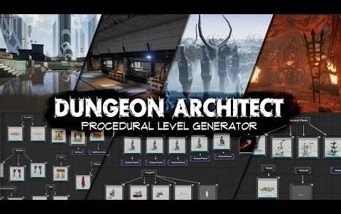 Dungeon Architect - レベルデザインが捗る!UE4用のプロシージャルダンジョン生成アセット!