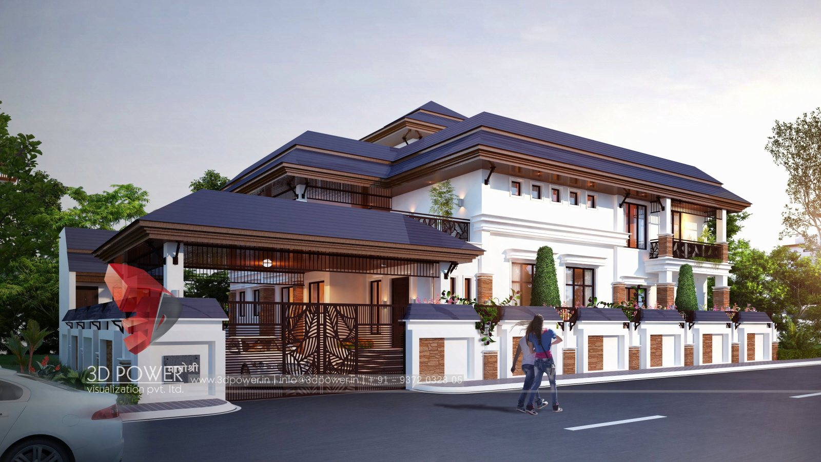 3d-rendering-Bungalow Exterior-Naming