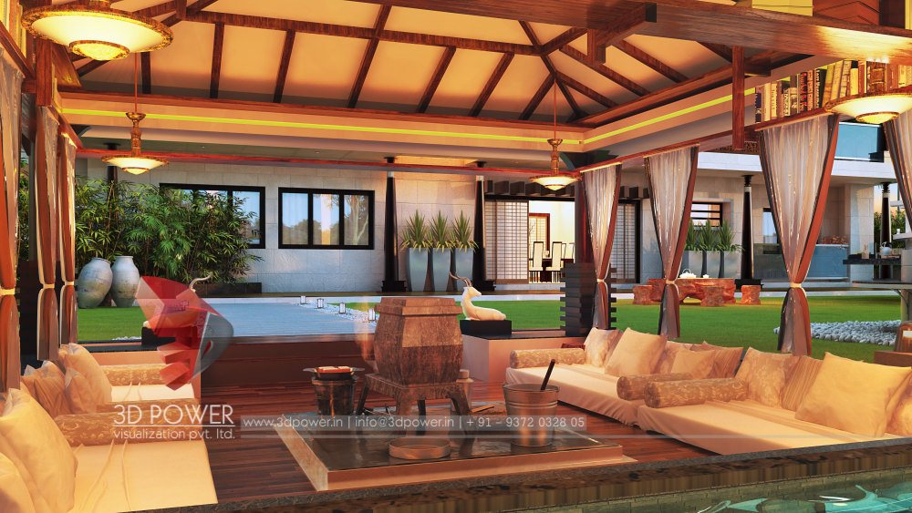 bungalow-3d-architectural-rendering-evening-view