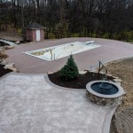 Backyard pool and patio