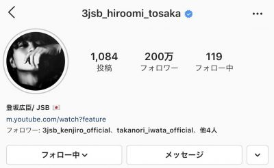 3jsb 登坂広臣 instagram