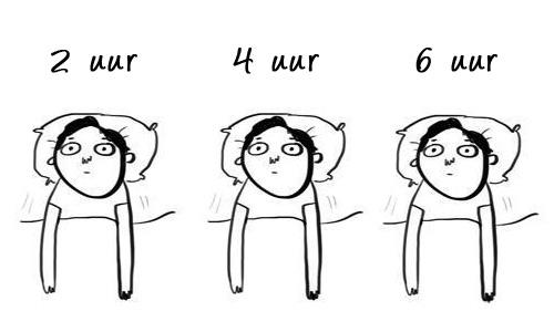 niet in slaap geraken