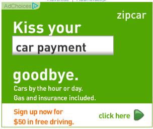 zipcar retargeting ad