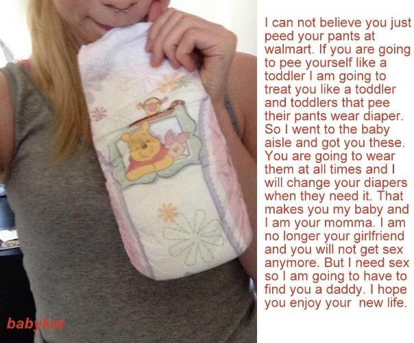 teen girls in diapers captions
