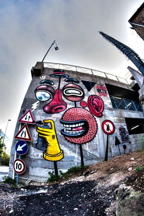autopsiart:  NO Rules ON the Street! de Mr.THOMS (@misterthoms) - Mister Thoms 2016 Shot by Giordano Quaresima #norules #misterthoms #walls #street #art